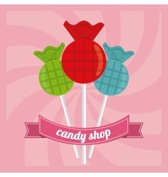 Candy design sweet icon dessert concept vector