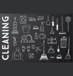 Cleaning tools cleaning service vector