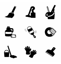 Clearning icon set vector image vector image