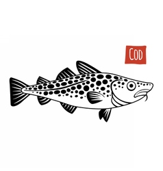 Cod black and white vector
