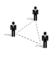 Connection people icon vector