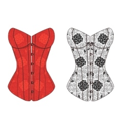 Corset Lace Set vector image vector image
