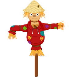 Cute scarecrow cartoon vector