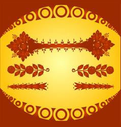 Decorative floral elements and ornaments vector