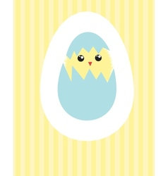 Easter beautiful card with hand drawn eggs vector image vector image