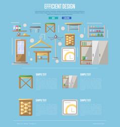 Efficiency hallway space decoration poster vector