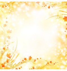 Floral autumn background vector