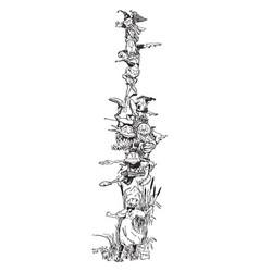 Goblins frame is a funny design vintage engraving vector