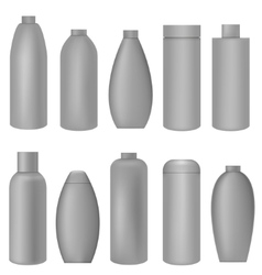 Grey bottle set vector