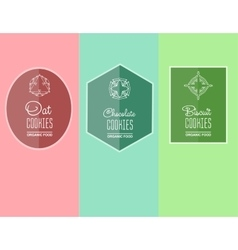 Label for biscuits cookies vector
