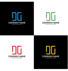 letter dg logo icon flat vector image vector image