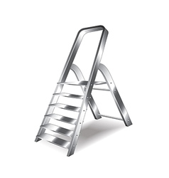 Metal ladder isolated vector