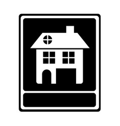 Monochrome portrait of traditional home vector