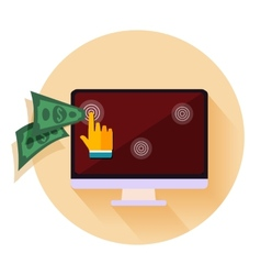 Pay per click internet advertising model when the vector