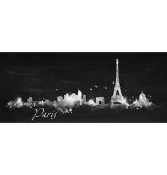 Silhouette chalk Paris vector image