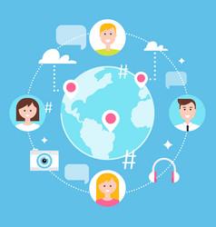 social network followers and social media vector image vector image