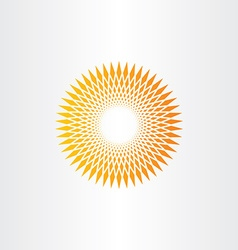 sun halftone background design vector image