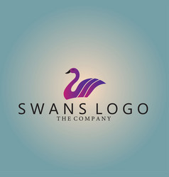 Swans logo ideas design vector