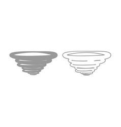 Whirlwind icon grey set vector