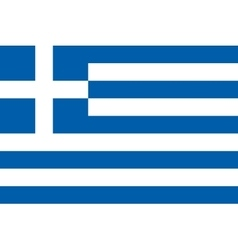Flag of Greece in correct proportions and colors vector image