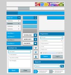 Clean web elements set vector