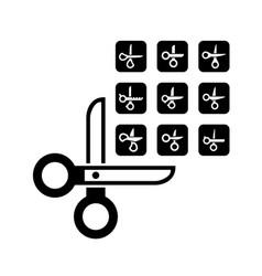 Scissors concept set vector