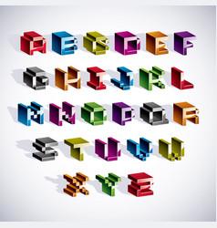 Font typescript created in 8 bit style pixel art vector