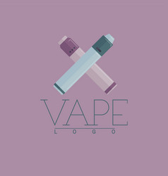vaping logo with two crossed mechanical vector image