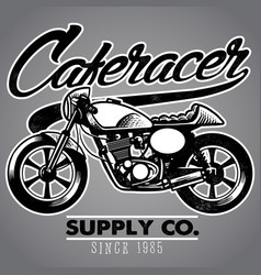 Caferacer motorcycle vector