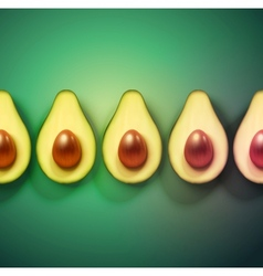 Background with avocado vector