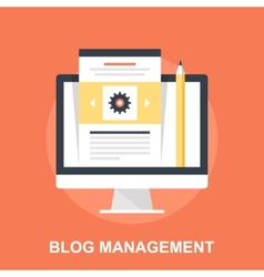 Blog management vector