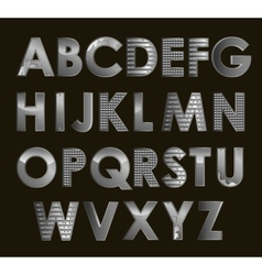 Silver font vector