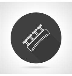 Finger expander black round icon vector image