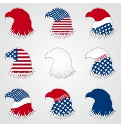 Patriotic american symbol for holiday eagle vector