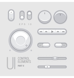 Flat web ui elements design gray vector