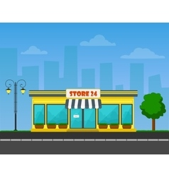 Detailed shop or store or market on vector