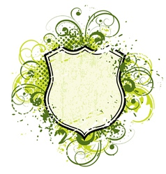 floral shield vector image