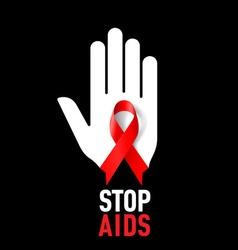 STOP AIDS Symb 02 vector image