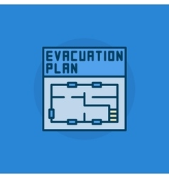 Evacuation plan flat icon vector