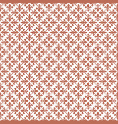 Brown damask seamless pattern backdrop vector