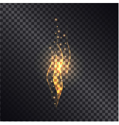 burning bright flame realistic effect vector image vector image