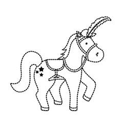 circus horse design vector image