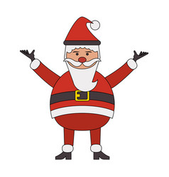 Color image cartoon full body fat santa claus vector