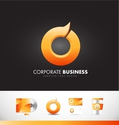 Corporate business orange circle logo icon design vector