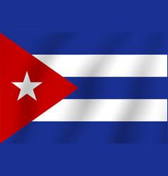 Cuba flag realistic flag national symbol design vector