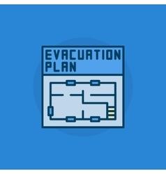 Evacuation plan flat icon vector image