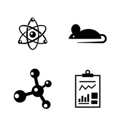 experiment simple related icons vector image