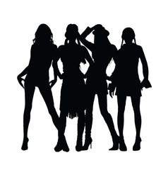 girl black silhouette vector image vector image