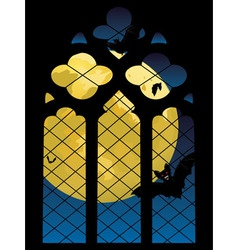 Gothic window and moon vector