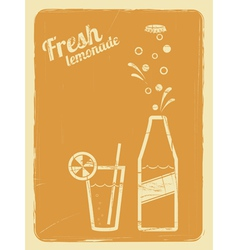 lemonade retro poster orange vector image